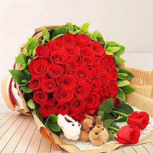 光棍节送花祝福语