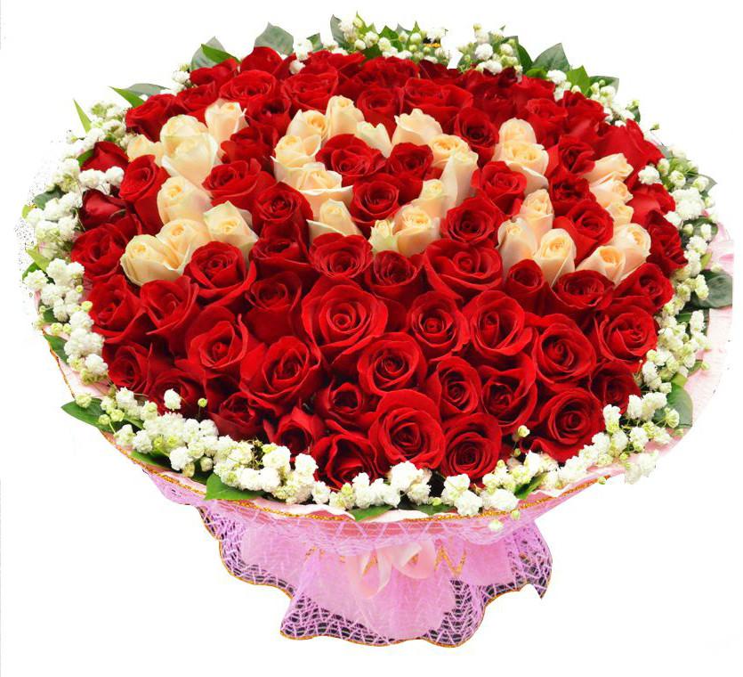 99朵ILOVEYOU红玫瑰
