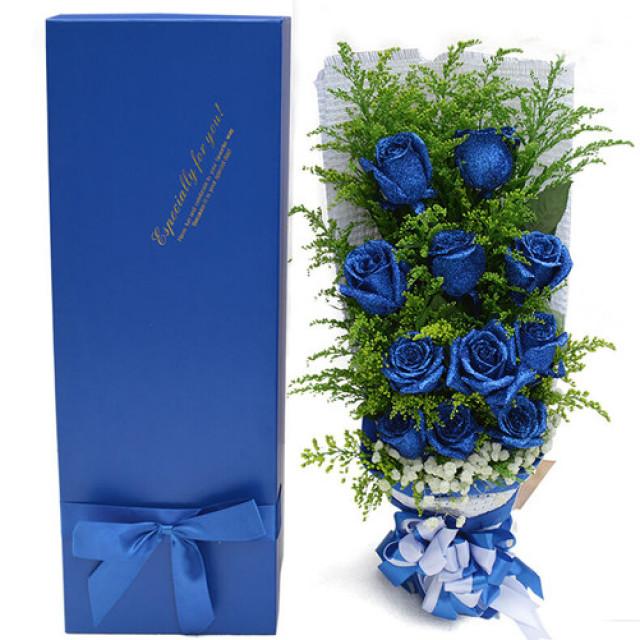 终于等到你-11枝蓝色妖姬礼盒