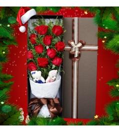 圣诞同行-11枝红玫瑰礼盒