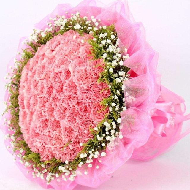 温馨的爱-99朵粉色康乃馨