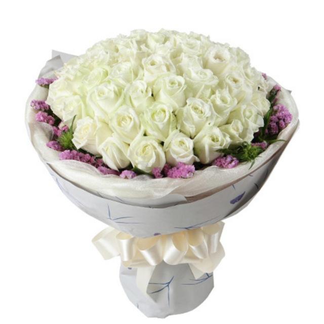 白雪公主--白玫瑰50枝