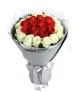 浪漫爱情--红玫瑰12枝,白玫瑰17枝
