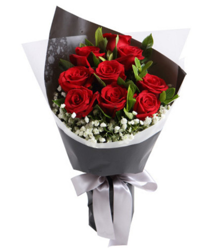 花蜜--红玫瑰9枝