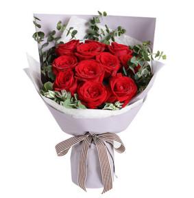 一心一意爱你--红玫瑰11枝