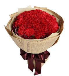 心随爱走--红色康乃馨33枝