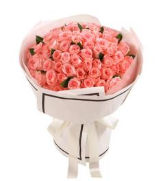 遇见爱--戴安娜粉玫瑰99枝