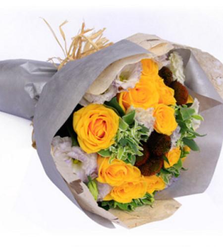 无心伤害--黄玫瑰16枝
