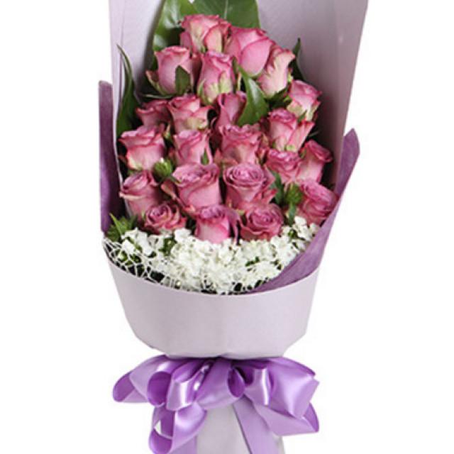 等待幸福--紫玫瑰22枝