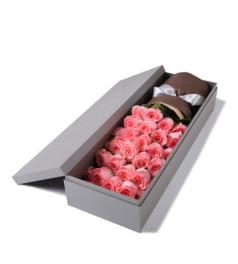 曙光--精品玫瑰礼盒:戴安娜粉玫瑰33枝