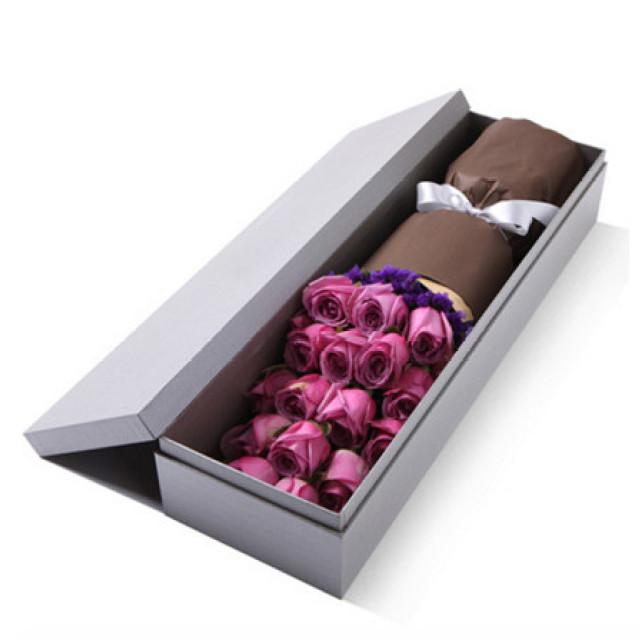 我的承诺--精品玫瑰礼盒:紫玫瑰19枝