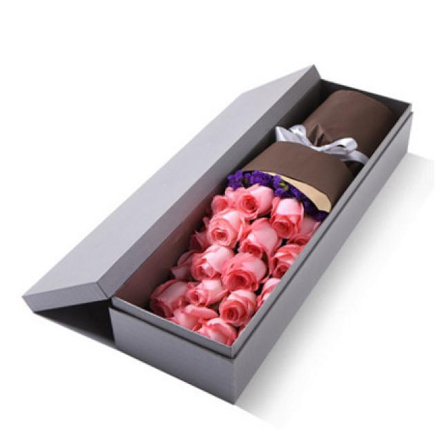 有你的感觉真好--精品玫瑰礼盒:戴安娜19枝