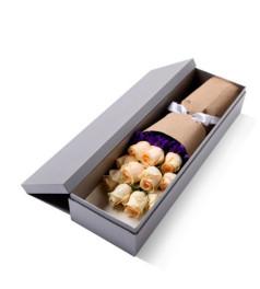 天使降临--精品玫瑰礼盒,香槟玫瑰11枝