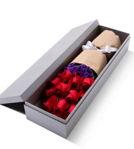 爱无止境--精品玫瑰礼盒,红玫瑰11枝