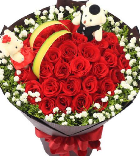 长相依--红玫瑰33枝