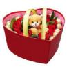 圣诞花盒G-18枝红玫瑰+12个费列罗+1个公仔