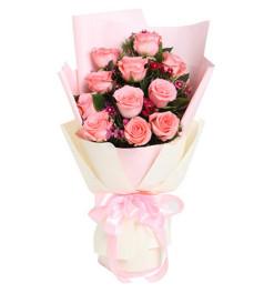 唤醒--戴安娜粉玫瑰11枝