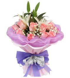 尽在不言中--粉玫瑰11枝