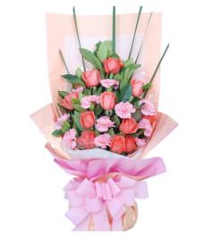 幸福情人节--粉玫瑰11枝