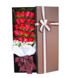 爱如磐石--19枝红玫瑰花盒