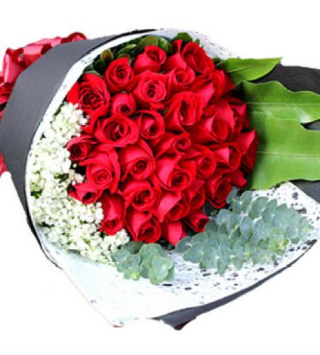 真挚爱意--紅玫瑰36枝