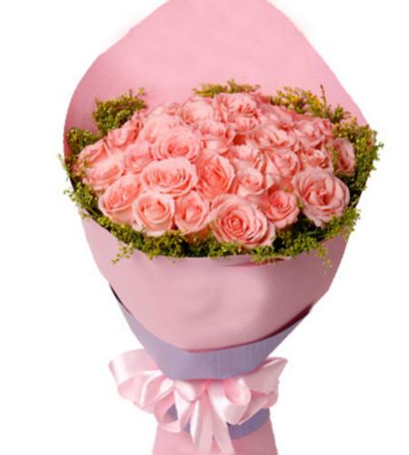 甜蜜爱情--戴安娜粉玫瑰33枝