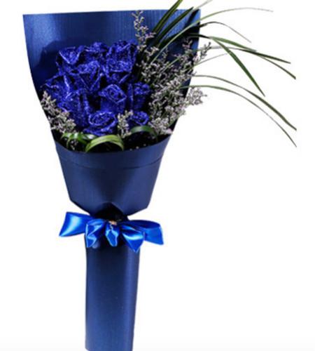 无限思念--蓝色玫瑰11枝