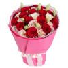 精心呵护--红玫瑰16枝,浅粉色桔梗6枝