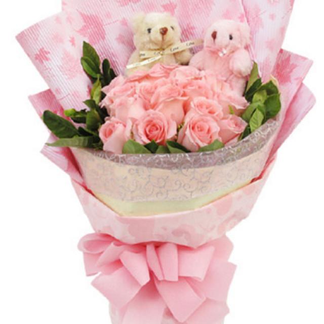 悄悄告诉你--粉玫瑰16枝