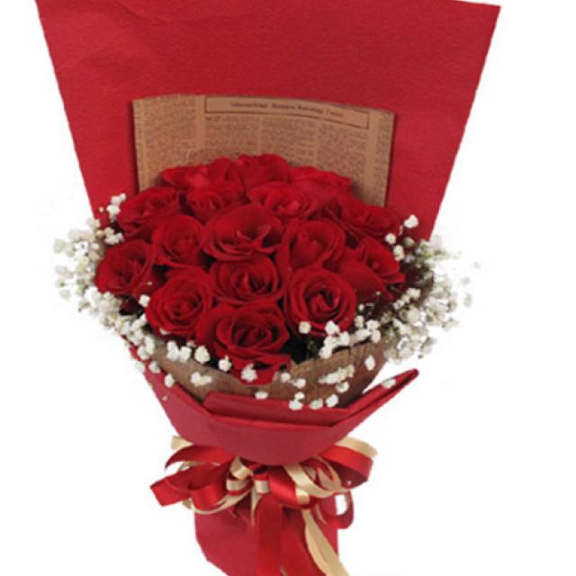 爱你至深--红玫瑰16枝