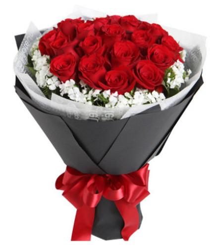 因为有你--红玫瑰19枝