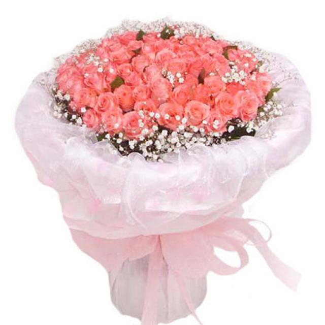 存在的意义--玫瑰108枝(白色、粉色、红色可选其一)