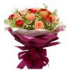 拾珍珠--红康乃馨9枝,粉色玫瑰12枝