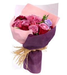 芬芳蔓延--紫玫瑰16枝