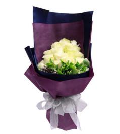 蜜意--雪山白玫瑰19枝