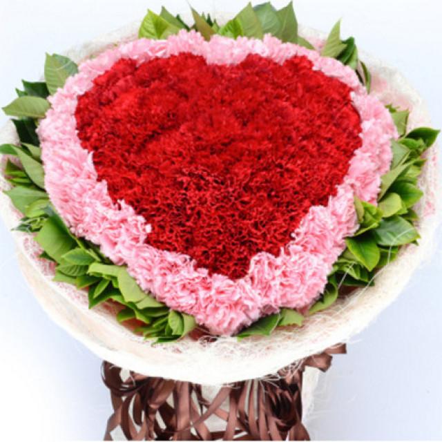 妈妈,我爱你--33枝红色+33枝粉色康乃馨