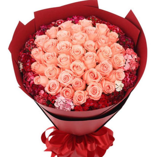 幸福的人--粉玫瑰33枝