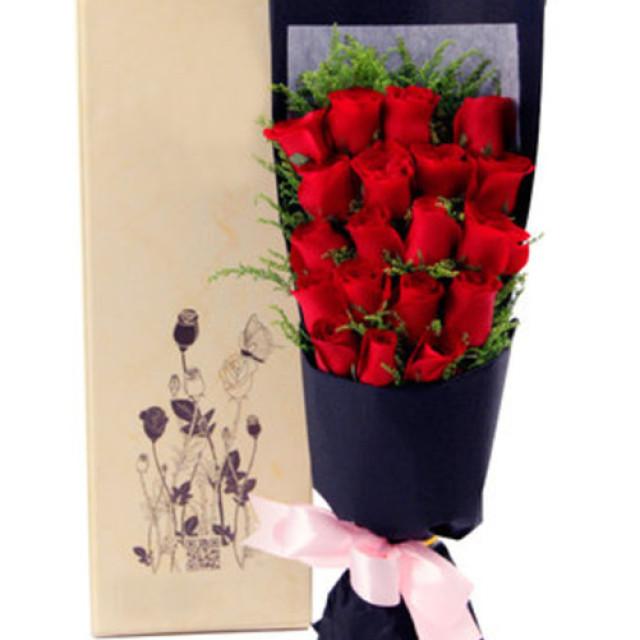 幸福的感觉--红玫瑰19枝