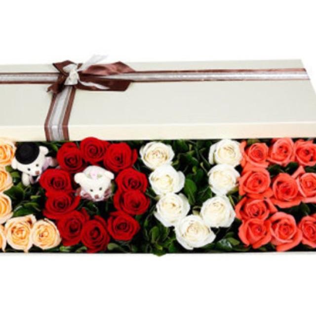 美丽的幸福--33枝玫瑰混搭