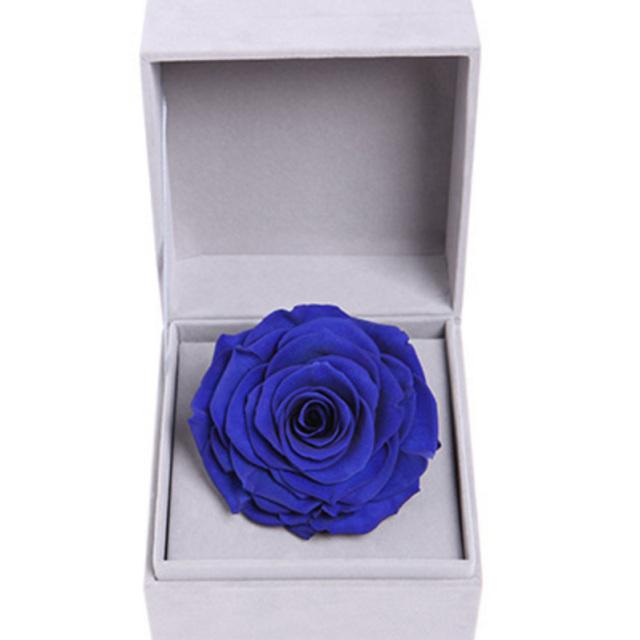 爱的宣言--蓝色永生玫瑰:厄瓜多尔进口巨型玫瑰