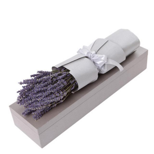 情有独钟--薰衣草礼盒:进口薰衣草永生花