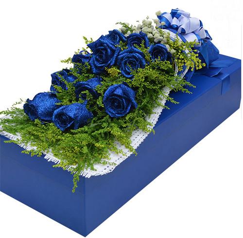 11枝蓝色妖姬礼盒1-2