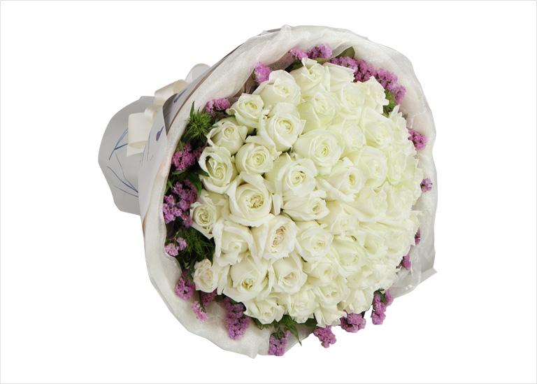 白玫瑰花束