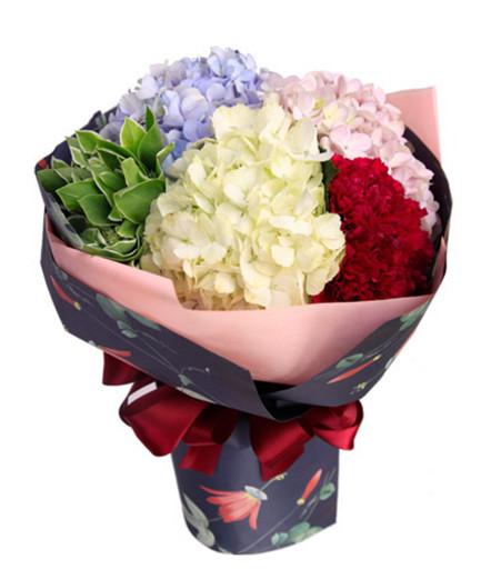 各色绣球花3枝,紫红色康乃馨9枝1-1.jpg