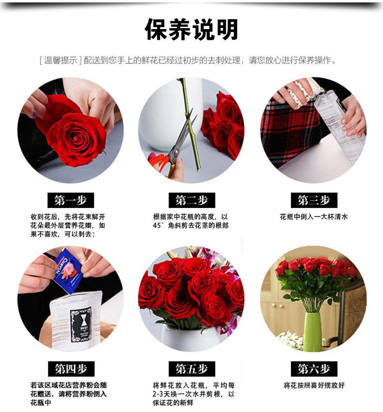 鲜花保养说明